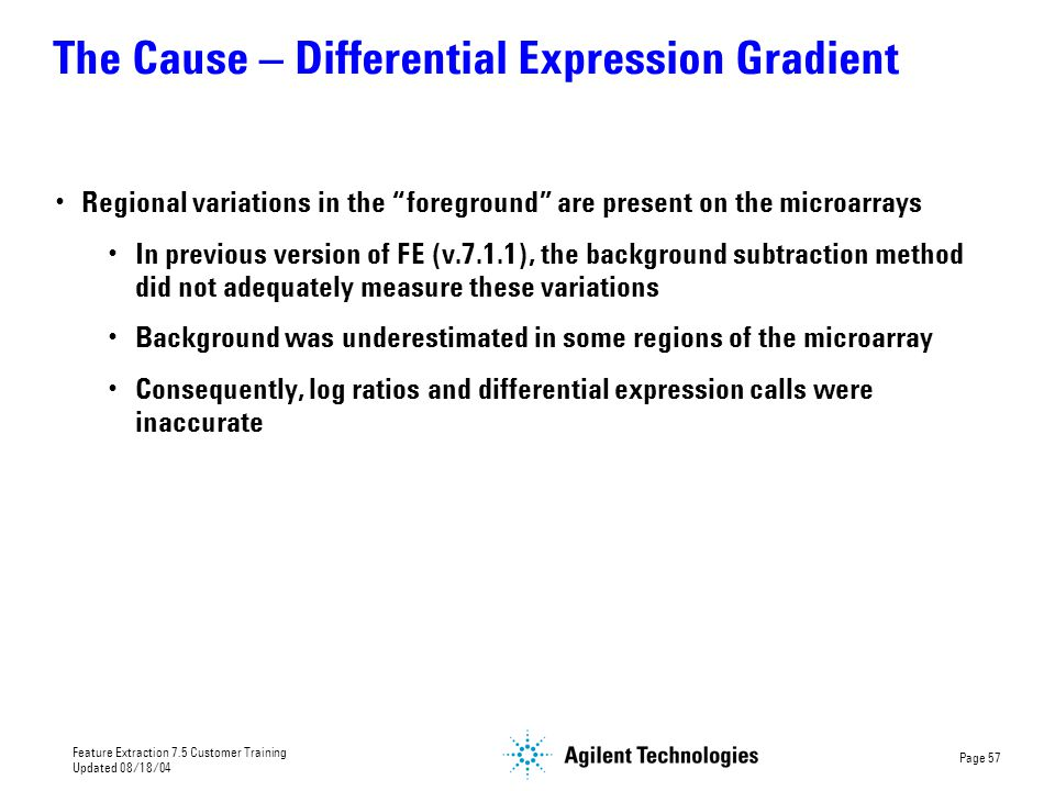 The Cause – Differential Expression Gradient