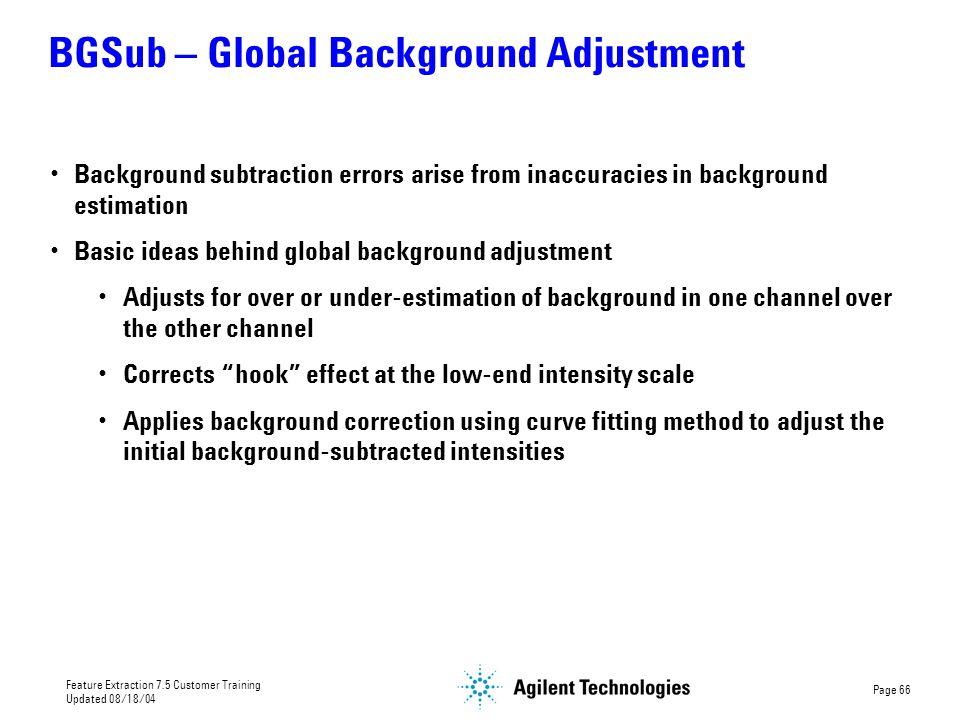 BGSub – Global Background Adjustment