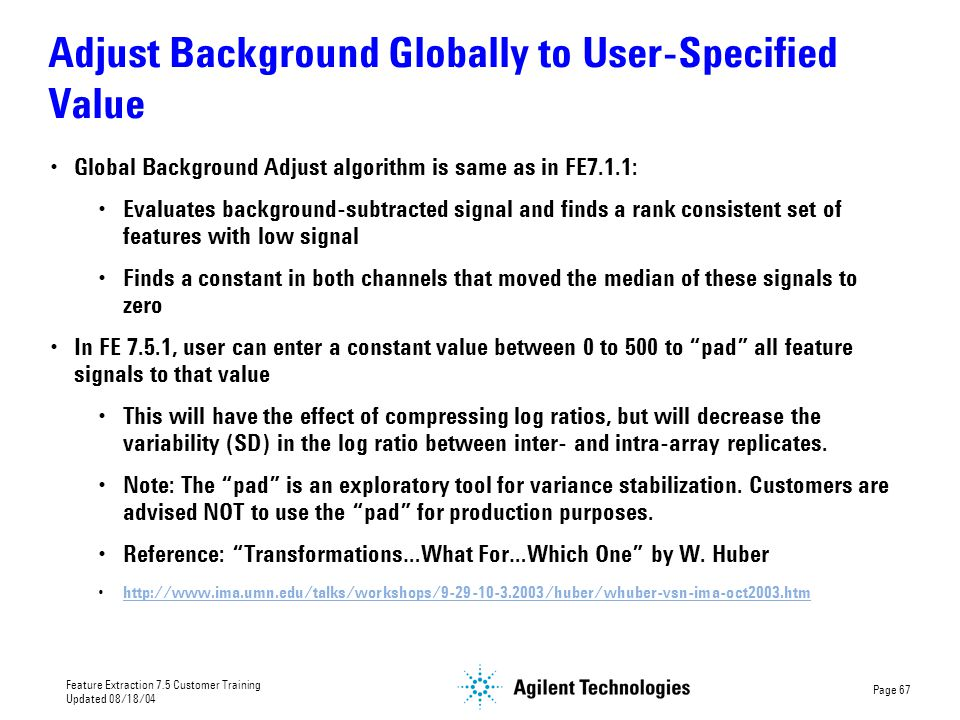 Adjust Background Globally to User-Specified Value