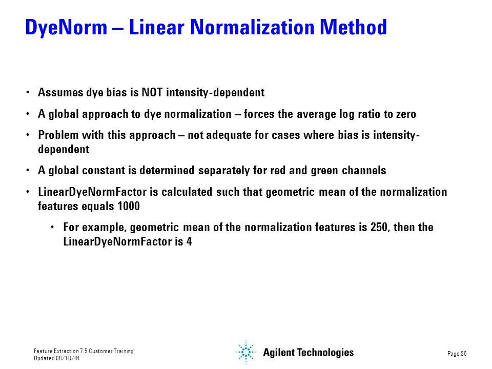 DyeNorm – Linear Normalization Method