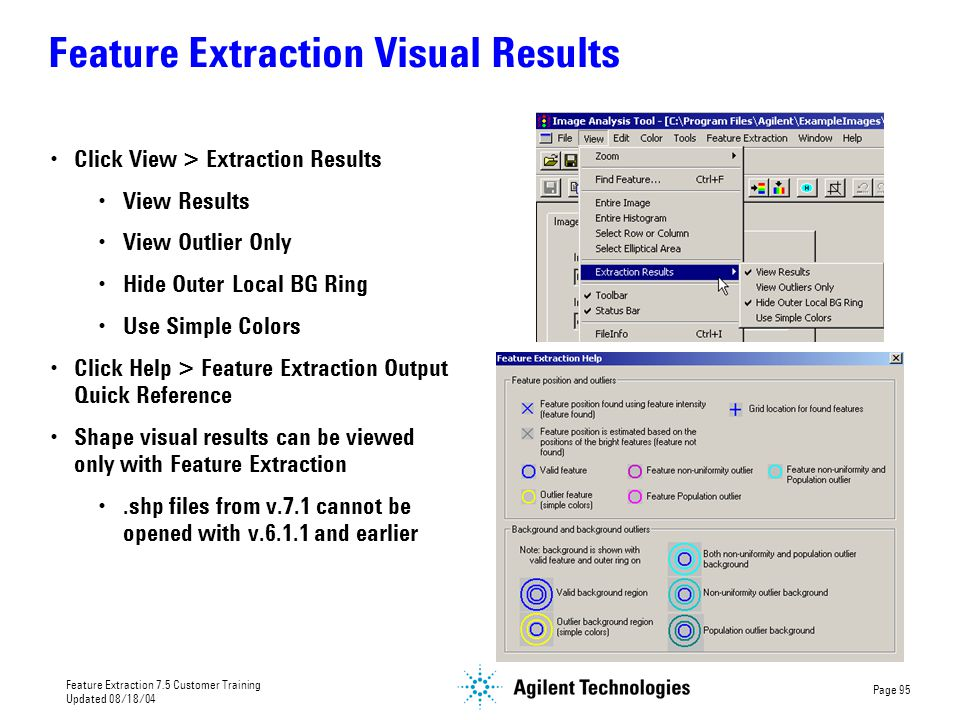 Feature Extraction Visual Results