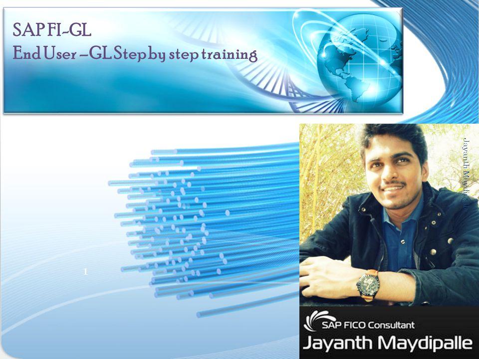 SAP FI-GL End User –GL Step by step training