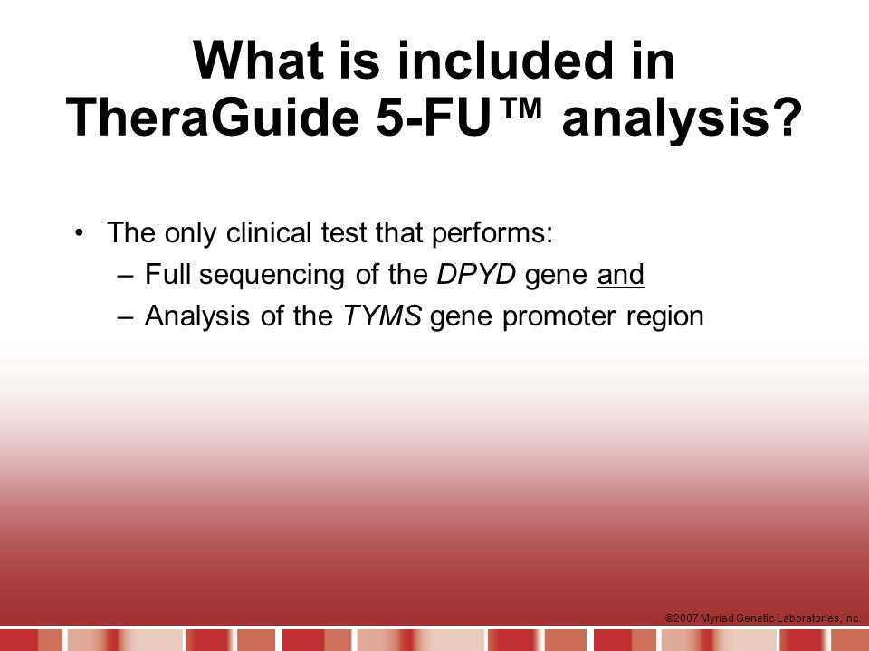What is included in TheraGuide 5-FU™ analysis