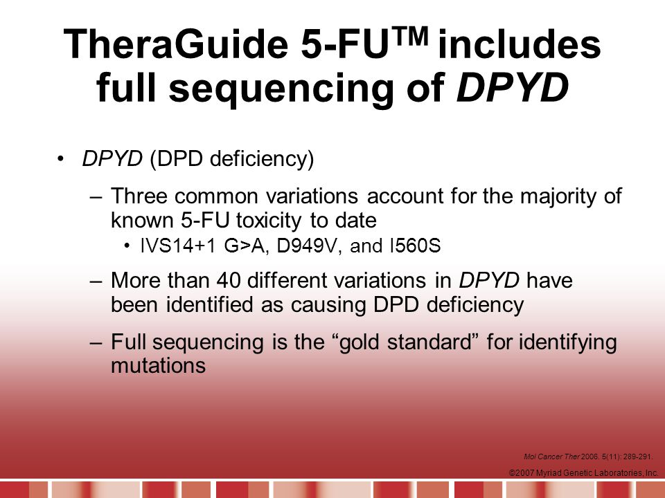 TheraGuide 5-FUTM includes full sequencing of DPYD