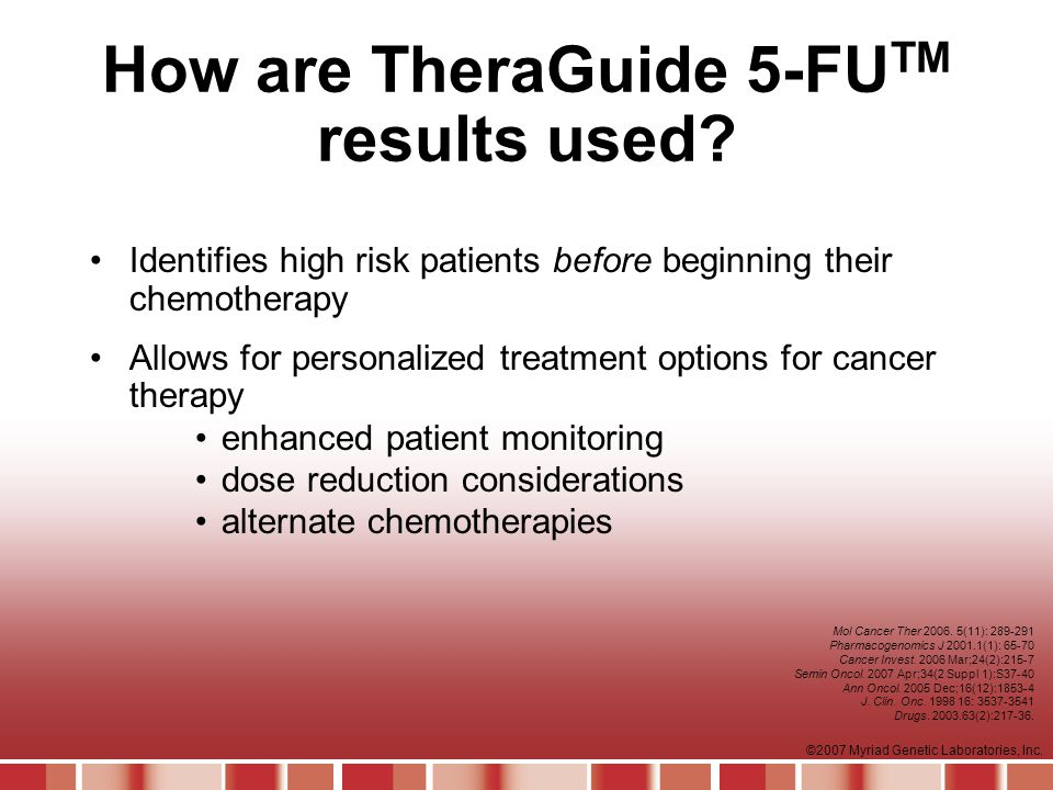 How are TheraGuide 5-FUTM results used