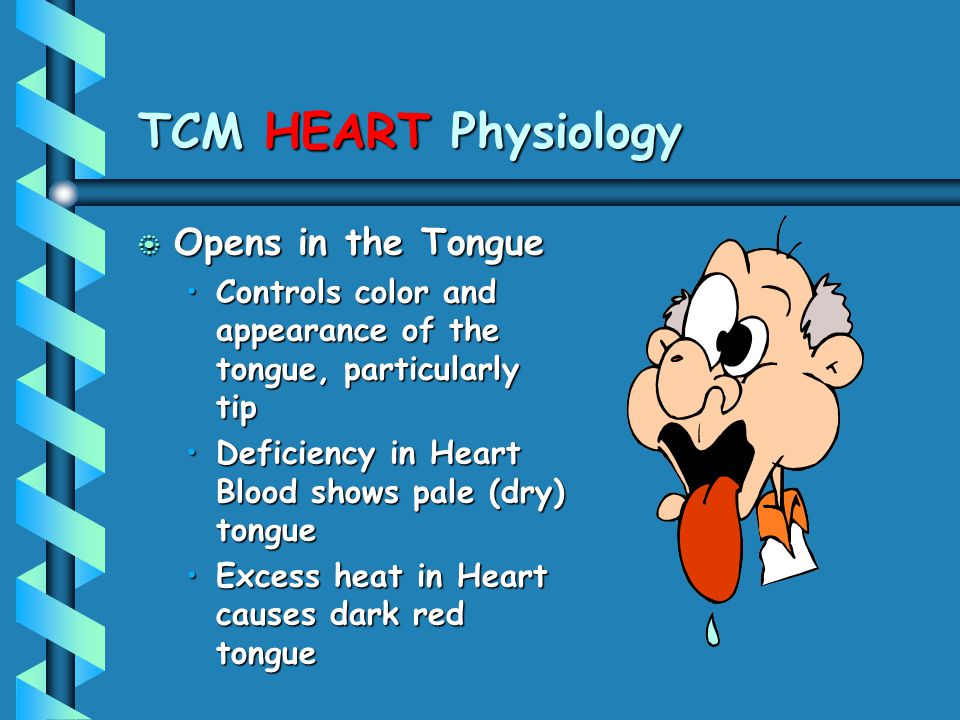 TCM HEART Physiology Opens in the Tongue