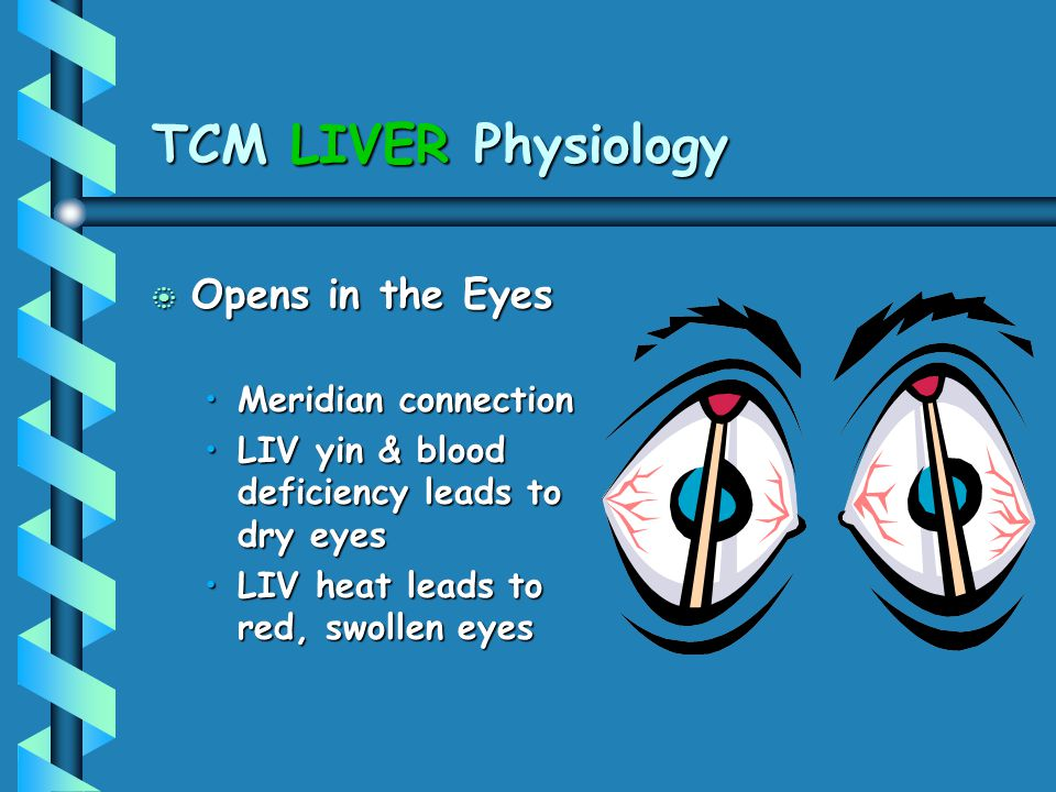 TCM LIVER Physiology Opens in the Eyes Meridian connection