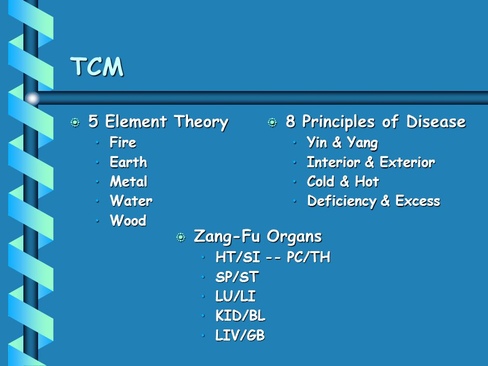 TCM 5 Element Theory 8 Principles of Disease Zang-Fu Organs Fire Earth