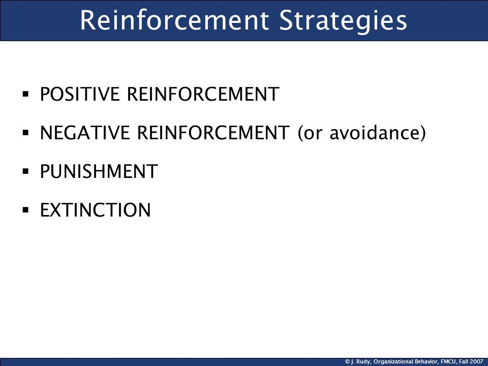 Reinforcement Strategies