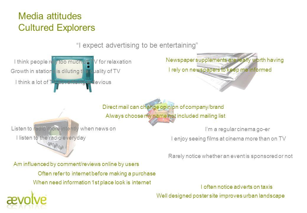 Media attitudes Cultured Explorers