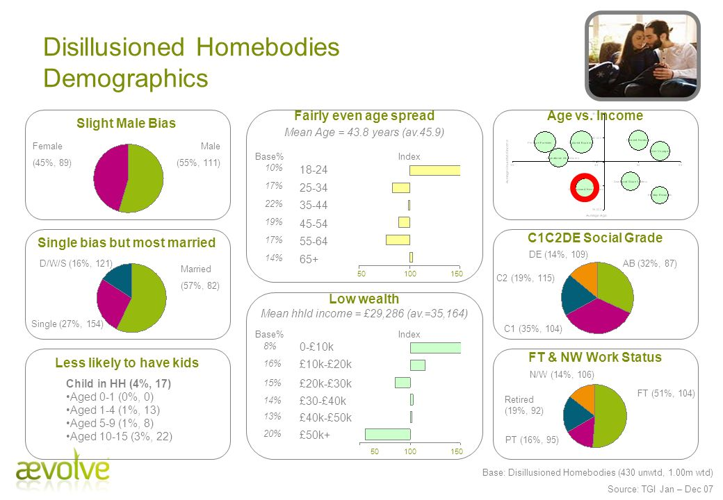 Disillusioned Homebodies Demographics