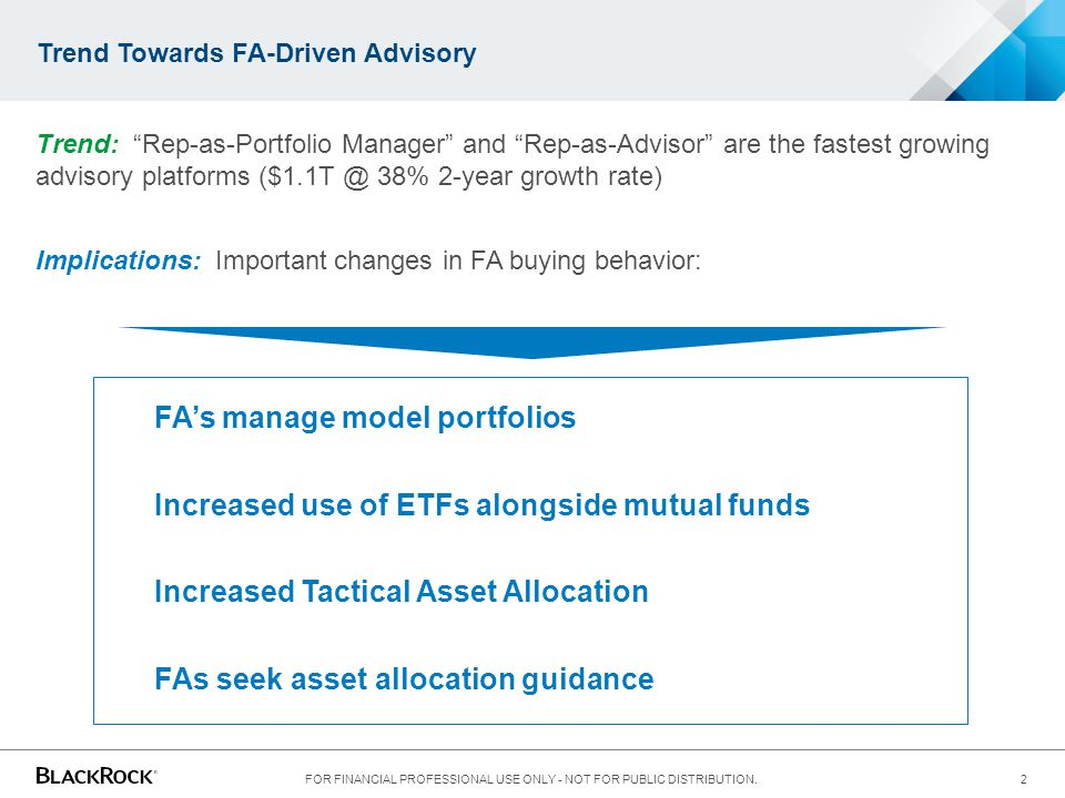 Trend Towards FA-Driven Advisory