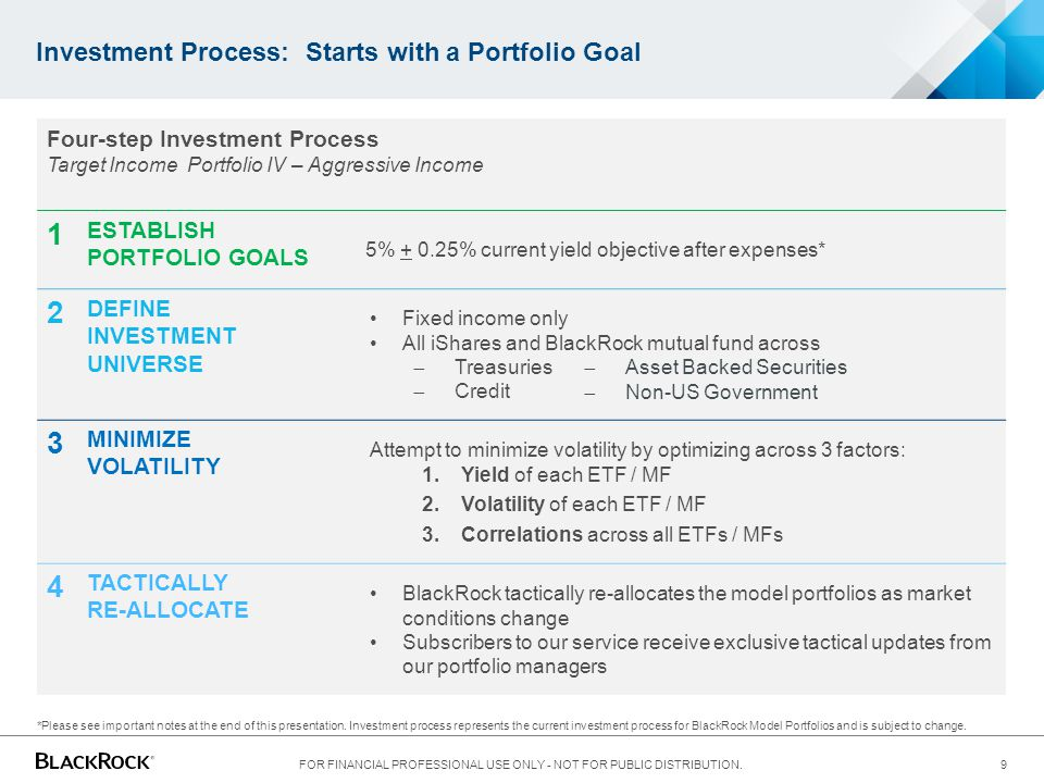 Investment Process: Starts with a Portfolio Goal