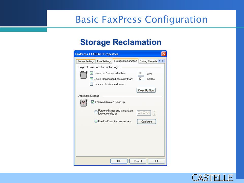 Basic FaxPress Configuration