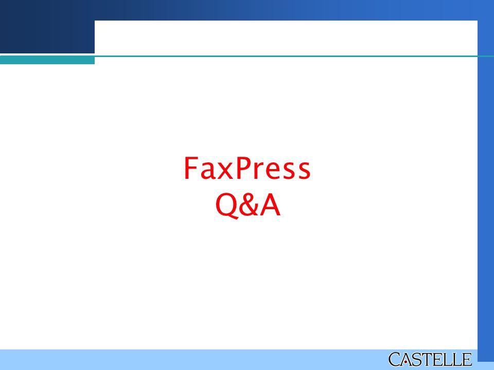 FaxPress Q&A