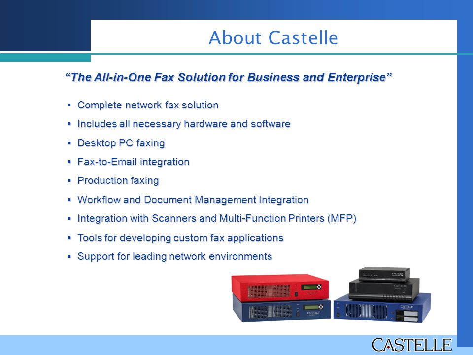 The All-in-One Fax Solution for Business and Enterprise