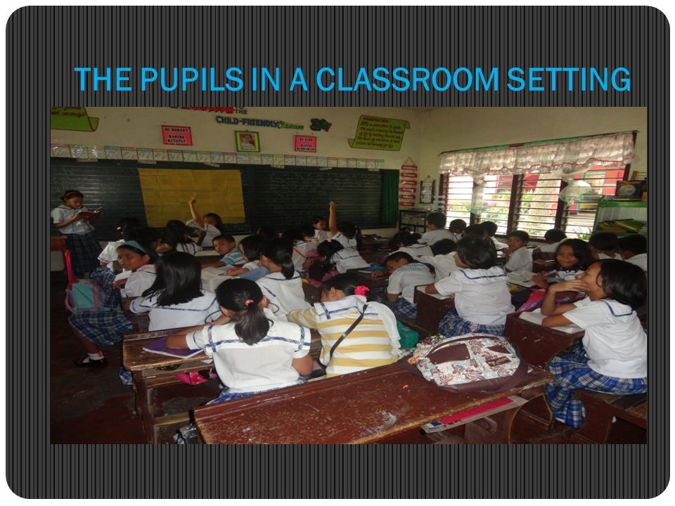 THE PUPILS IN A CLASSROOM SETTING