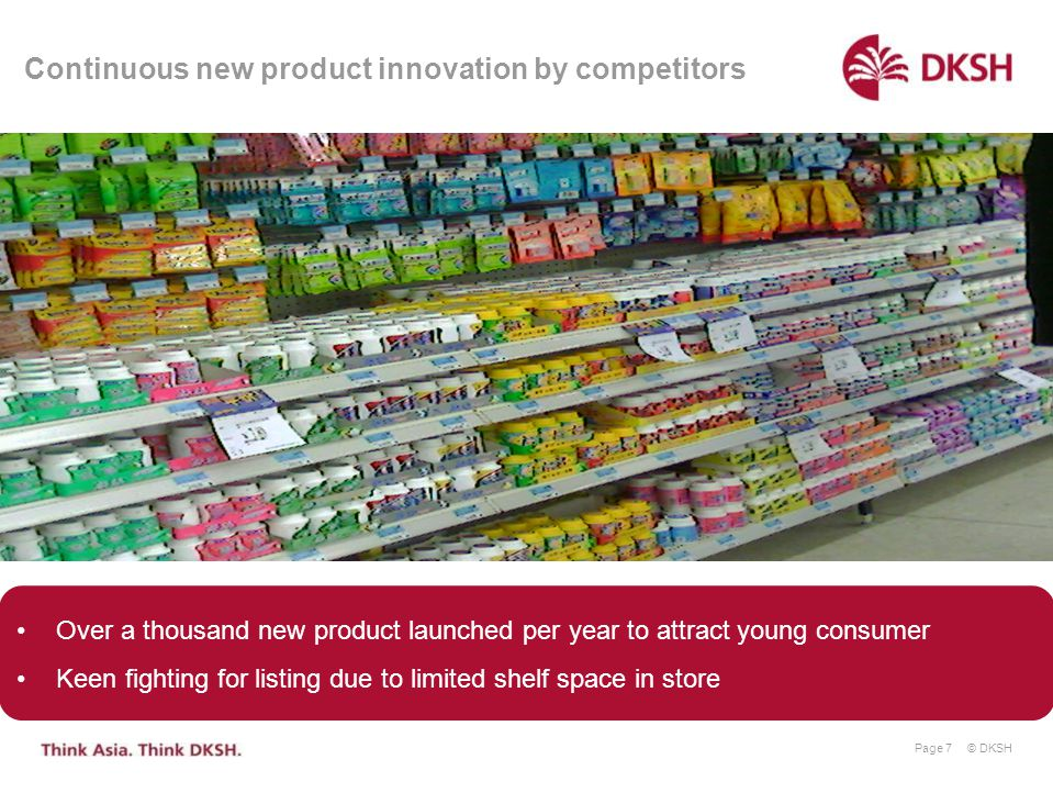Continuous new product innovation by competitors