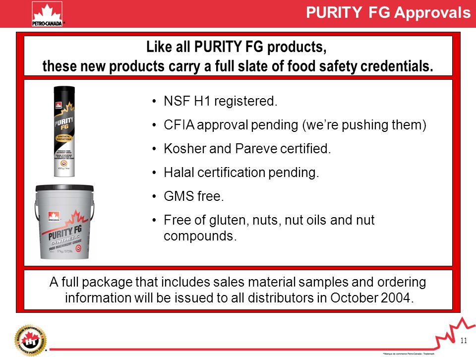 Like all PURITY FG products,