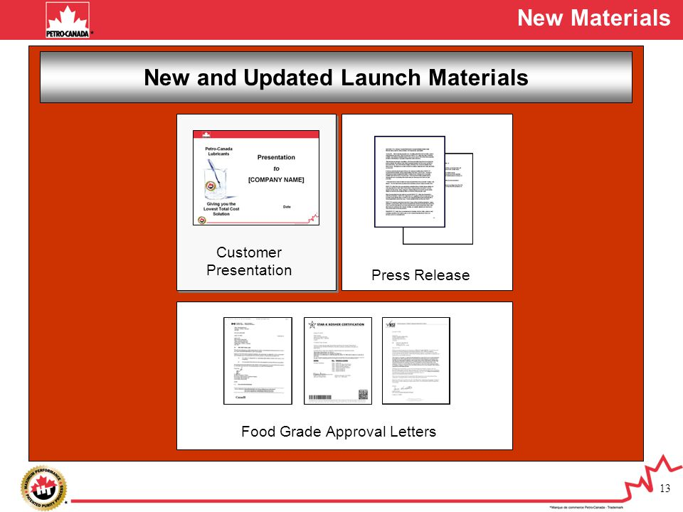 New and Updated Launch Materials