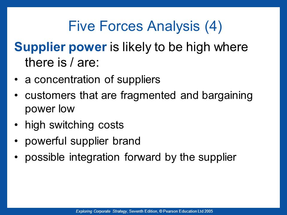 Five Forces Analysis (4)
