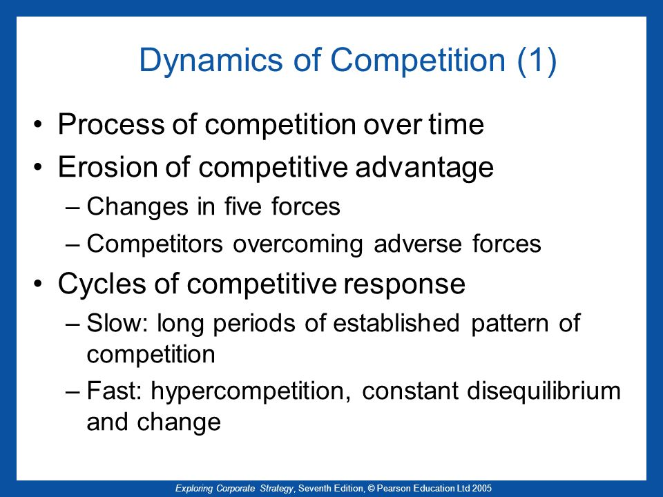Dynamics of Competition (1)