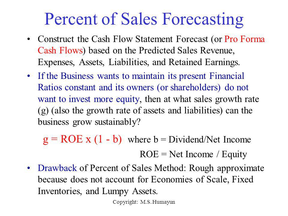 Percent of Sales Forecasting