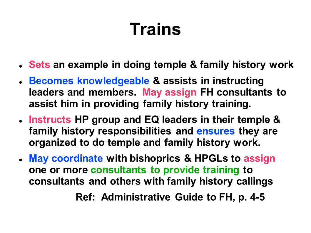 Trains Sets an example in doing temple & family history work