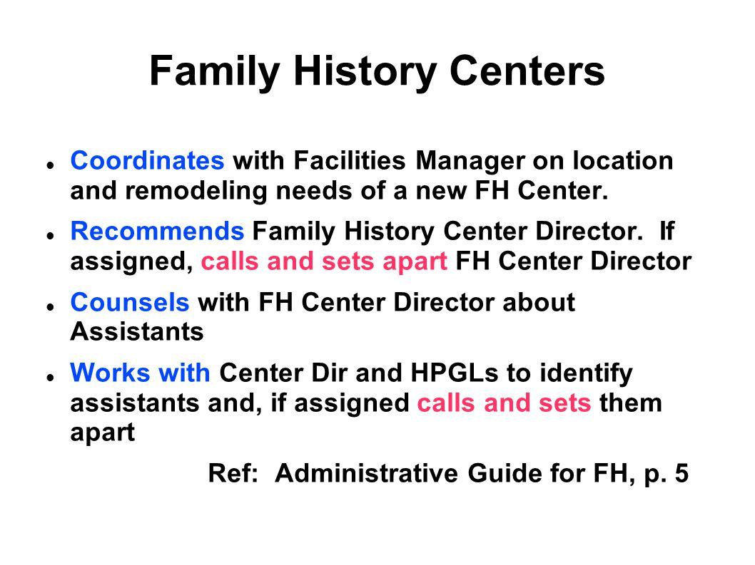 Family History Centers