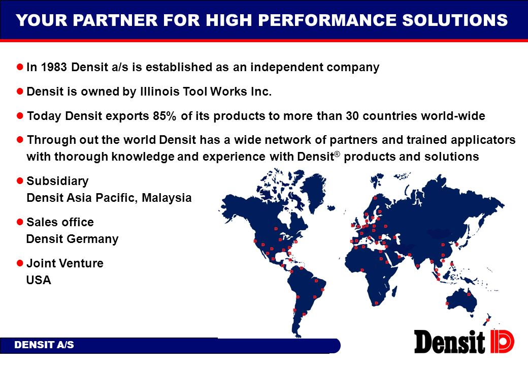 YOUR PARTNER FOR HIGH PERFORMANCE SOLUTIONS