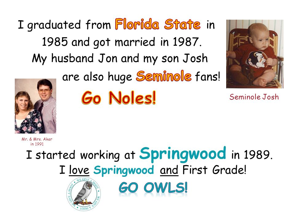 I graduated from Florida State in