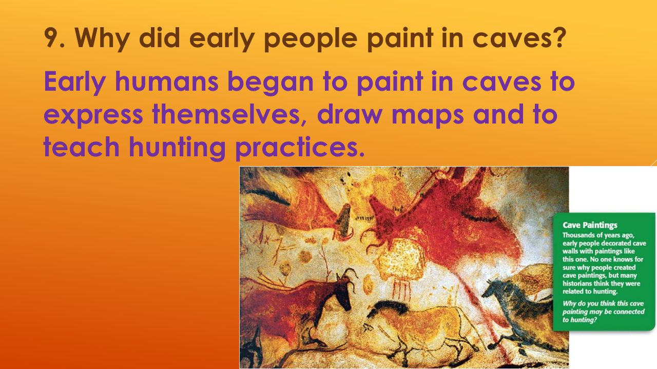 9. Why did early people paint in caves