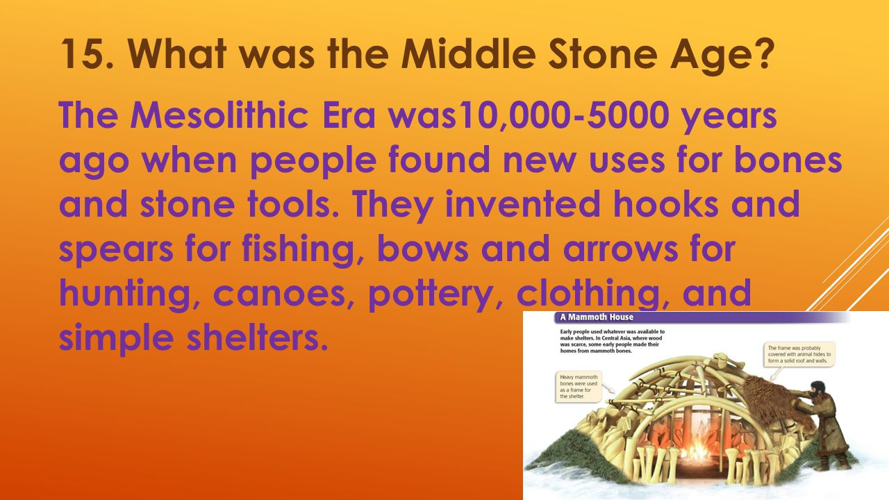 15. What was the Middle Stone Age