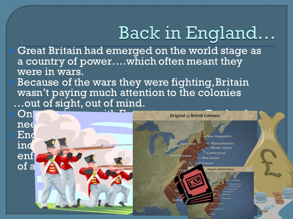 Back in England… Great Britain had emerged on the world stage as a country of power….which often meant they were in wars.