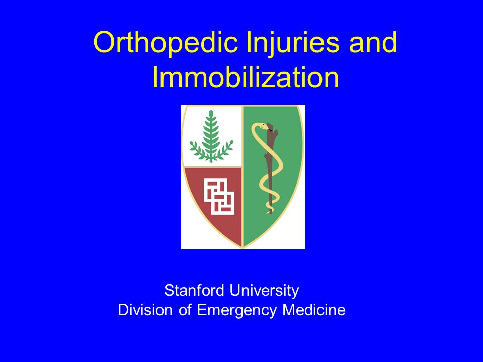 Orthopedic Injuries and Immobilization