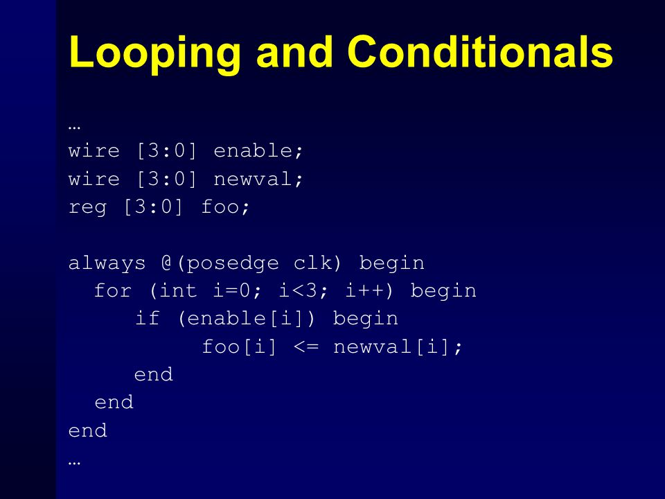 Looping and Conditionals