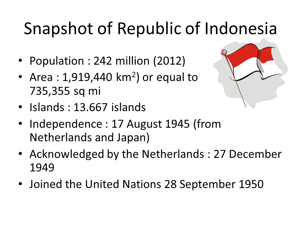 Snapshot of Republic of Indonesia