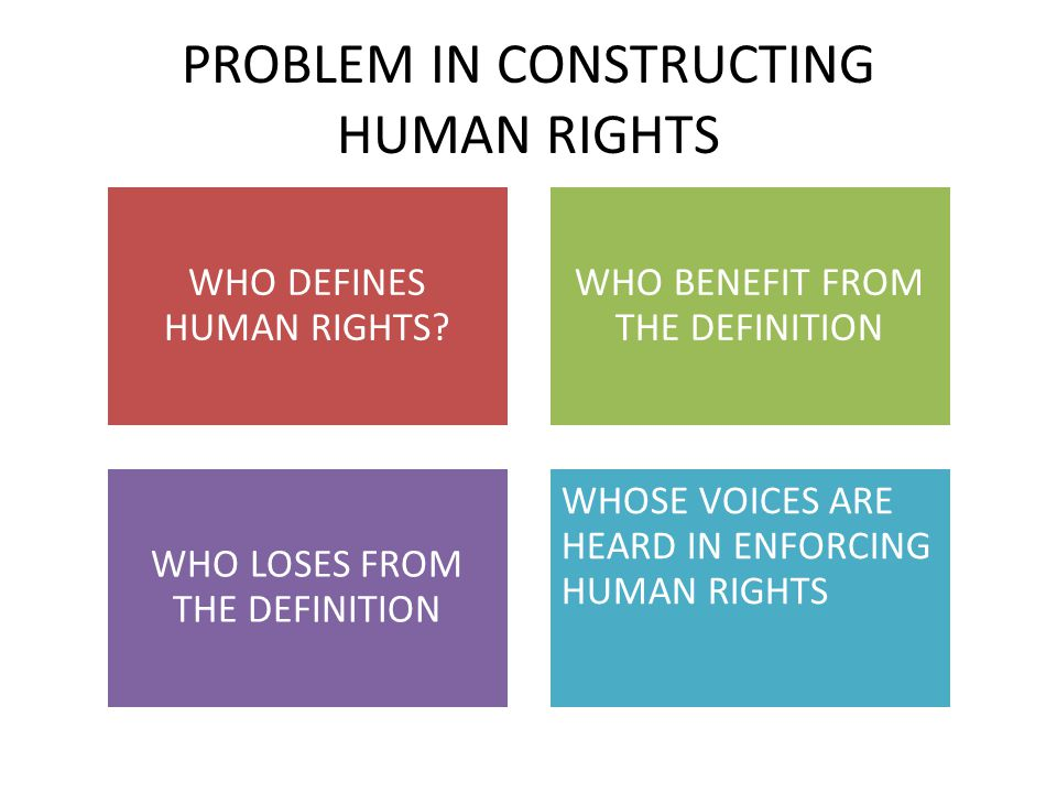 PROBLEM IN CONSTRUCTING HUMAN RIGHTS