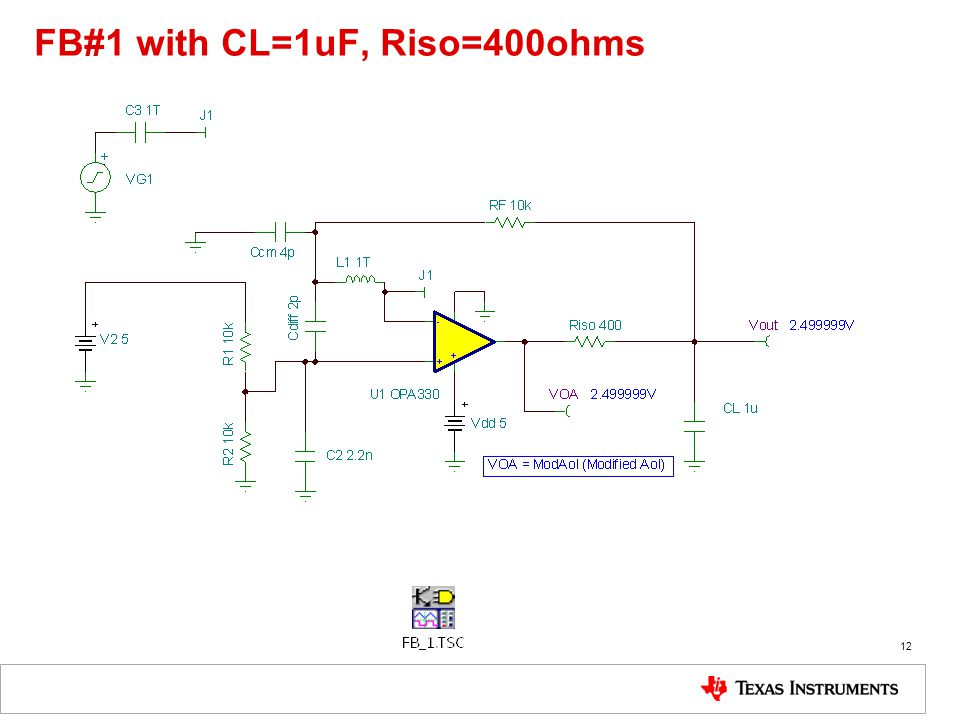 FB#1 with CL=1uF, Riso=400ohms