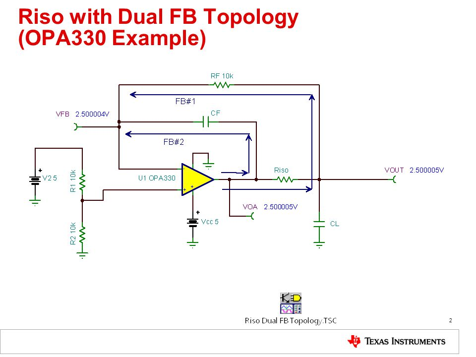 Riso with Dual FB Topology (OPA330 Example)