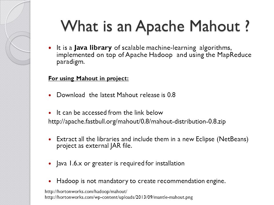 What is an Apache Mahout