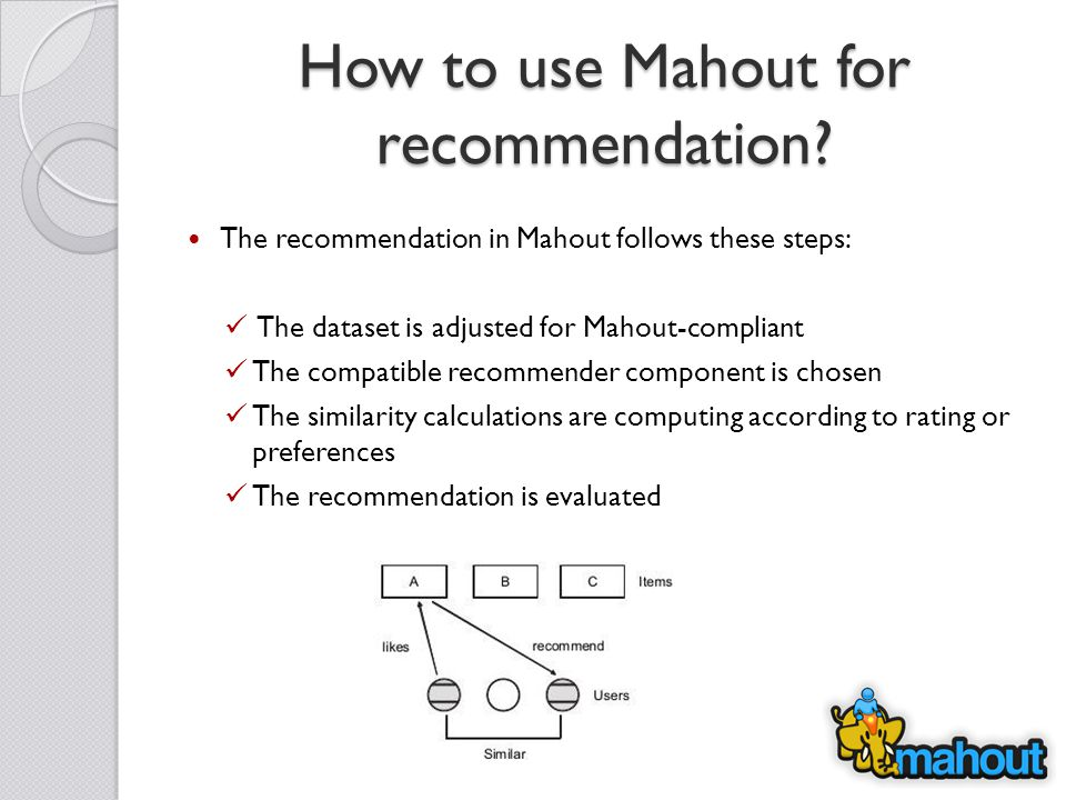 How to use Mahout for recommendation