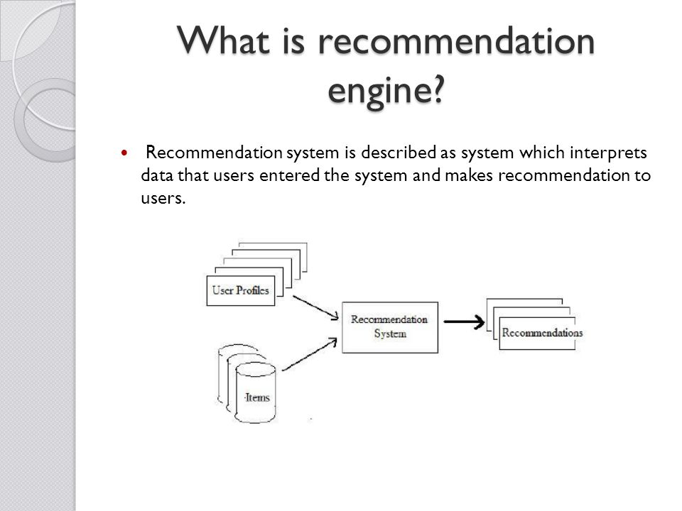 What is recommendation engine