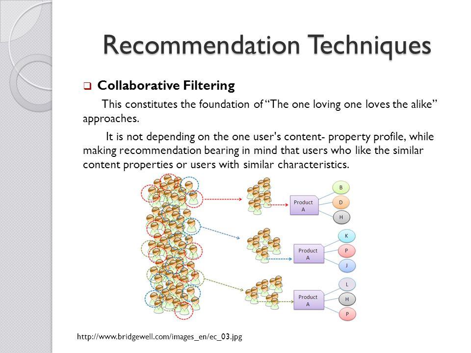 Recommendation Techniques