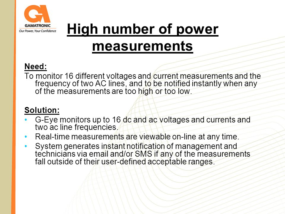 High number of power measurements