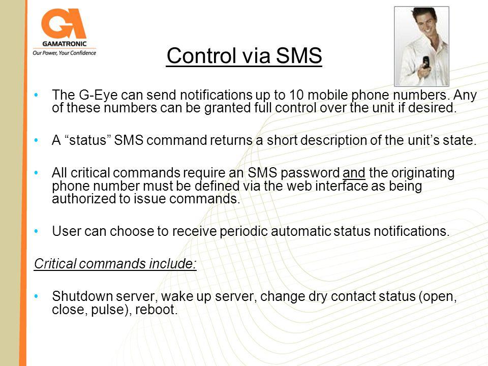 Control via SMS