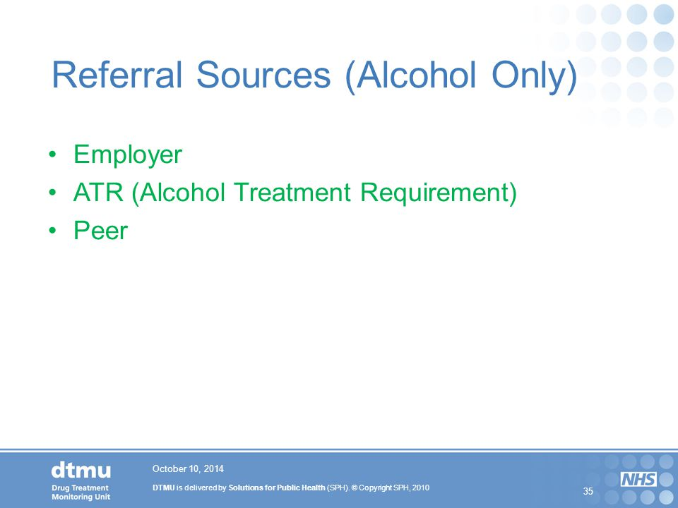 Referral Sources (Alcohol Only)