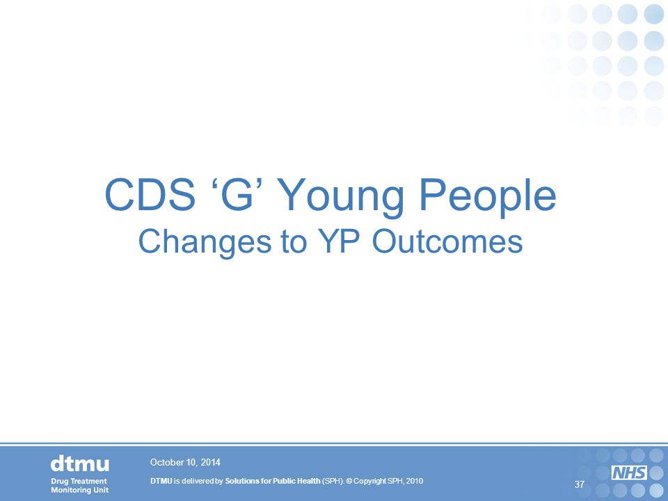 CDS 'G' Young People Changes to YP Outcomes