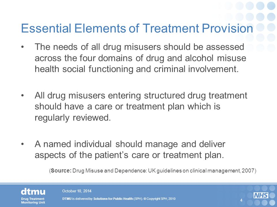 Essential Elements of Treatment Provision