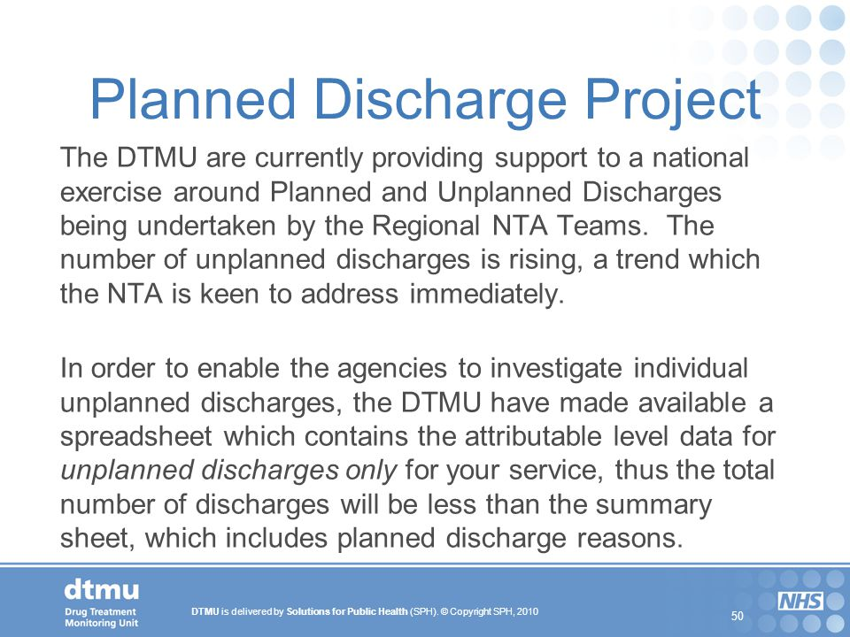 Planned Discharge Project